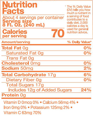 FOREVER ALOE BITS N'PEACHES nutrition facts
